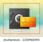 credit card bitcoin  ... | Shutterstock .eps vector #1150960493