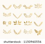 collection of golden flourish... | Shutterstock .eps vector #1150960556