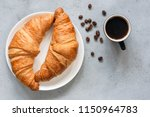 Croissants With Coffee. Two...
