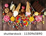 candies with jelly and sugar.... | Shutterstock . vector #1150965890