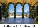 scenic balcony overlooking lake ... | Shutterstock . vector #1150969103