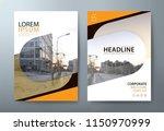 annual report brochure flyer...   Shutterstock .eps vector #1150970999