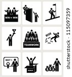human resources and management... | Shutterstock .eps vector #115097359