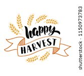 happy harvest   hand drawn... | Shutterstock .eps vector #1150973783