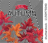 hello autumn vector design... | Shutterstock .eps vector #1150975040