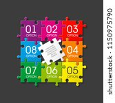 eight sided 3d puzzle... | Shutterstock .eps vector #1150975790