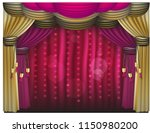curtain purple and gold...