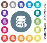 database compress data flat... | Shutterstock .eps vector #1150984649