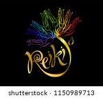 reiki energy. logotype. healing ...   Shutterstock .eps vector #1150989713