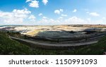 panoramic view of quarry on a... | Shutterstock . vector #1150991093