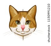 abstract portrait of a funny cat | Shutterstock .eps vector #1150991210