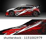car wrap design vector  truck... | Shutterstock .eps vector #1151002979