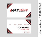 the new simple business card is ... | Shutterstock .eps vector #1151003366