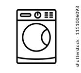 washing machine outline vector... | Shutterstock .eps vector #1151006093
