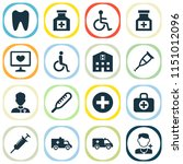 antibiotic icons set with...   Shutterstock . vector #1151012096