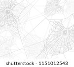 spooky spider web silhouette... | Shutterstock .eps vector #1151012543