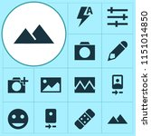 image icons set with... | Shutterstock .eps vector #1151014850