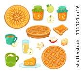 vector set of apple and apple... | Shutterstock .eps vector #1151015519