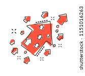 vector cartoon arrow up icon in ...