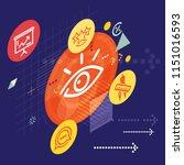 quality assurance process  ... | Shutterstock .eps vector #1151016593