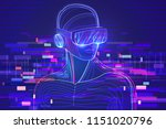 digital glitch effect in... | Shutterstock .eps vector #1151020796