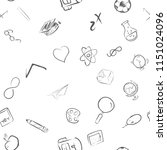 back to school seamless vector... | Shutterstock .eps vector #1151024096