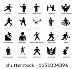 set of 20 simple editable icons ... | Shutterstock .eps vector #1151024396