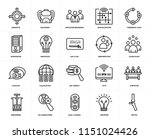 set of 20 simple editable icons ...   Shutterstock .eps vector #1151024426
