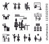 set of 13 simple editable icons ... | Shutterstock .eps vector #1151025593