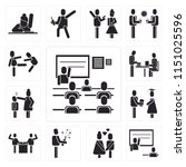 set of 13 simple editable icons ... | Shutterstock .eps vector #1151025596