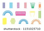 spiral springs different color... | Shutterstock .eps vector #1151025710