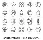 set of 20 icons such as scorpio ...