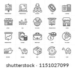 set of 20 icons such as cart ... | Shutterstock .eps vector #1151027099