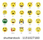 set of 20 icons such as sad ...
