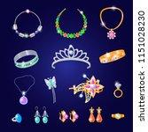 jewelry vector jewellery gold... | Shutterstock .eps vector #1151028230