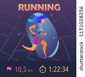 sports app for runners. mobile... | Shutterstock .eps vector #1151028356