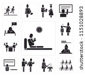 set of 13 simple editable icons ... | Shutterstock .eps vector #1151028893