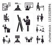 set of 13 simple editable icons ... | Shutterstock .eps vector #1151028896