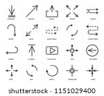 set of 20 icons such as focus ... | Shutterstock .eps vector #1151029400