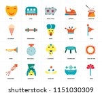 set of 20 icons such as rose ... | Shutterstock .eps vector #1151030309