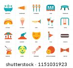 set of 20 icons such as bow tie ...