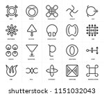 set of 20 icons such as... | Shutterstock .eps vector #1151032043