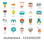 set of 20 icons such as... | Shutterstock .eps vector #1151032250