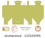 gift box template isolated on...   Shutterstock .eps vector #115103590