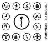 set of 13 simple editable icons ... | Shutterstock .eps vector #1151037803