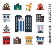 set of 13 simple editable icons ... | Shutterstock .eps vector #1151037863