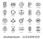 set of 20 simple editable icons ... | Shutterstock .eps vector #1151039153
