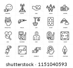 set of 20 icons such as light... | Shutterstock .eps vector #1151040593