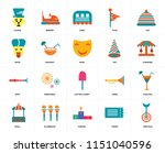 set of 20 icons such as... | Shutterstock .eps vector #1151040596