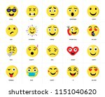 set of 20 icons such as in love ...